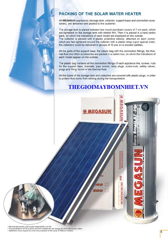 Máy nước nóng năng lượng mặt trời tấm phẳng Megasun ST300
