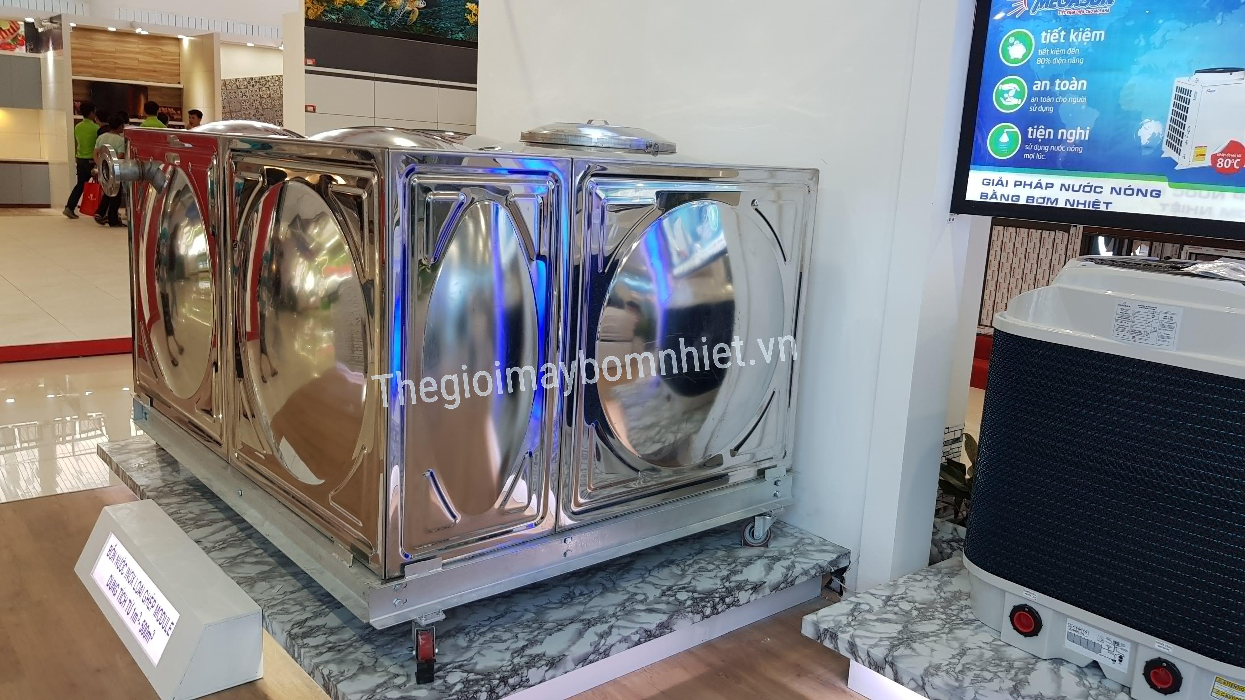 Bồn Inox vuông chứa nước lắp ghép-200M3