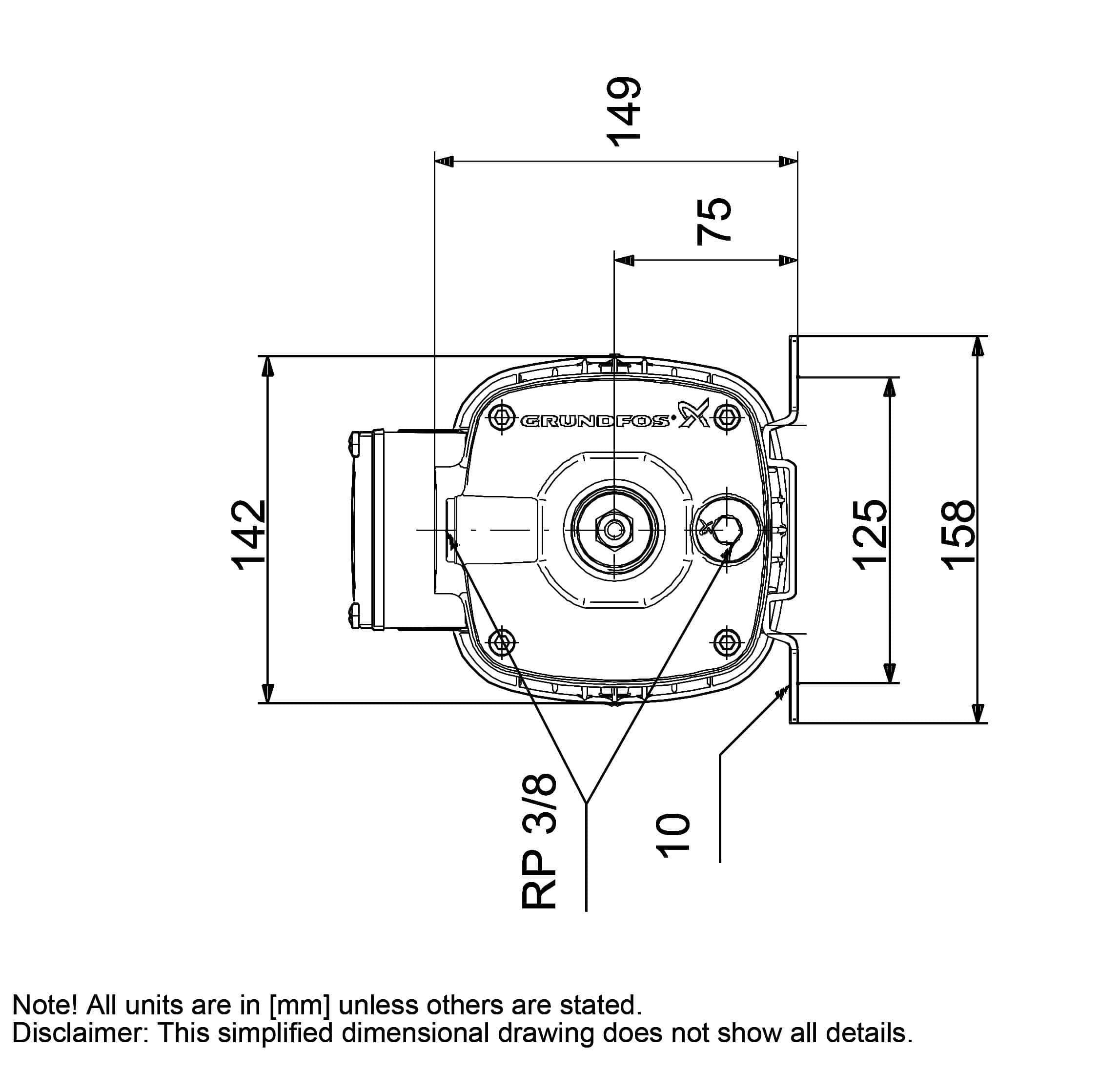 thông số máy bơm nước Grundfos Cm3 5